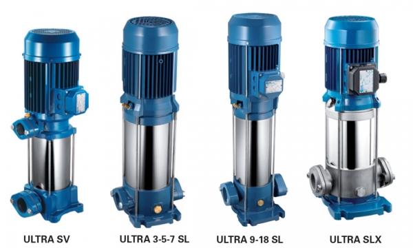 Máy bơm ly tâm đa tầng cánh hiệu Pentax - Model: ULTRA SV-SL-SLX
