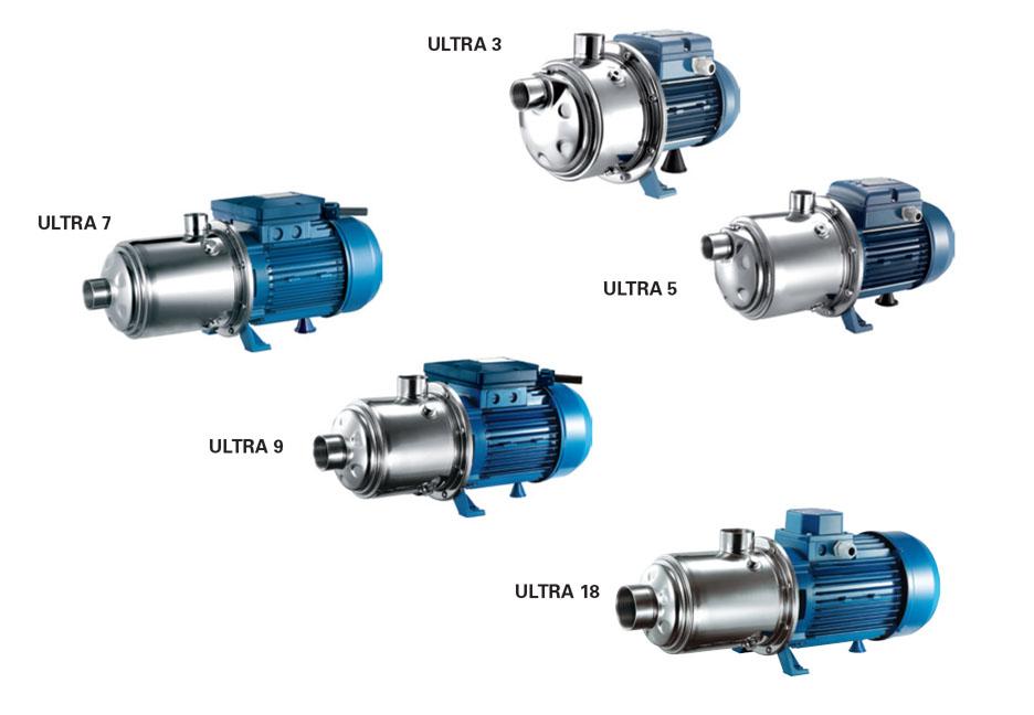 Máy bơm ly tâm đa tầng cánh hiệu Pentax - Model: ULTRA